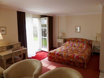 Studios at the Hotel Rigi Vitznau are family rooms with a kitchenette