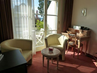 Superior rooms at the Hotel Rigi Vitznau are large rooms en suite and partly with balcony
